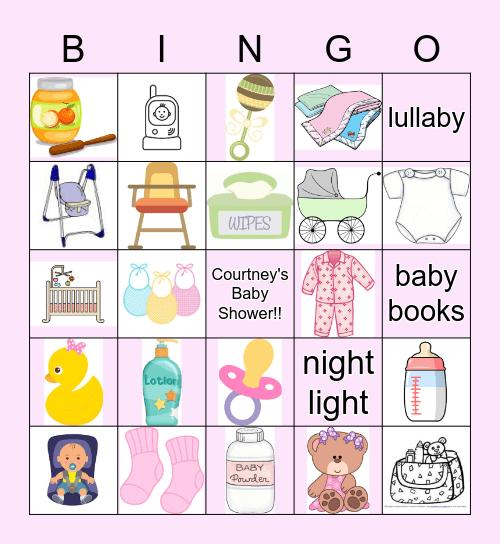 Courtney's Baby Shower Bingo Card