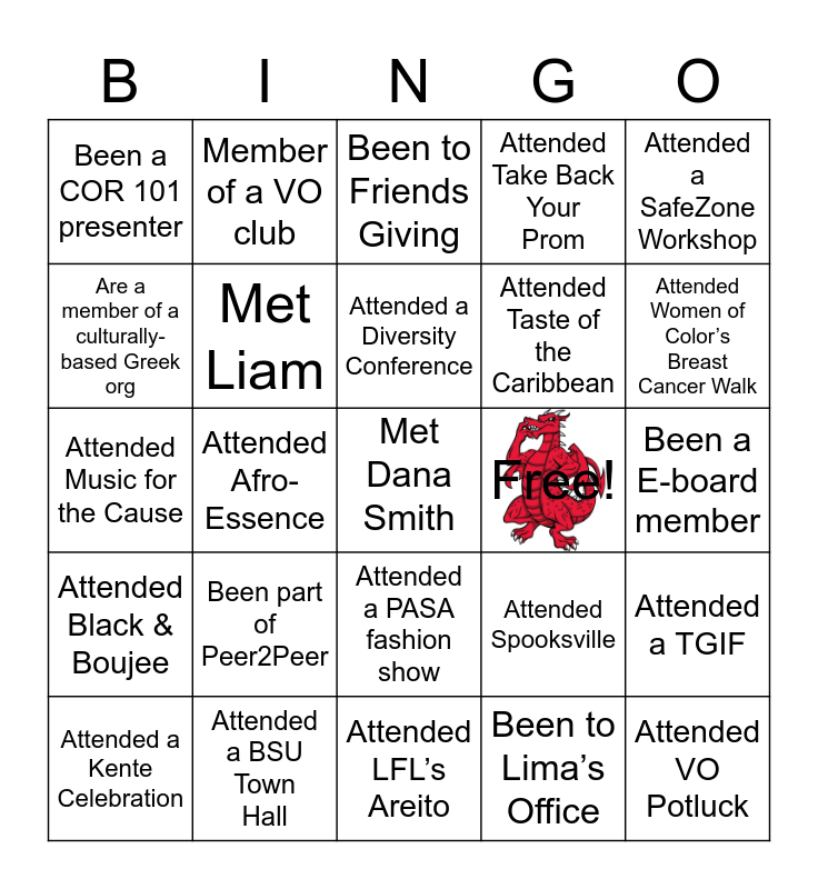MLDO & Voice Office Bingo Card