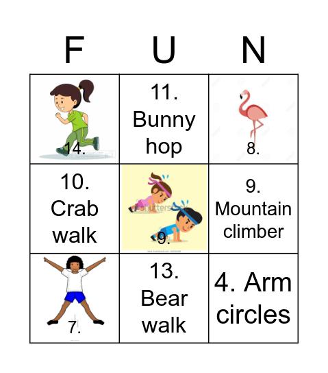Fitness Fun Bingo! Bingo Card