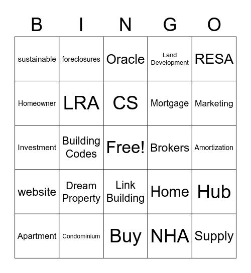 LAMUDI Bingo Card
