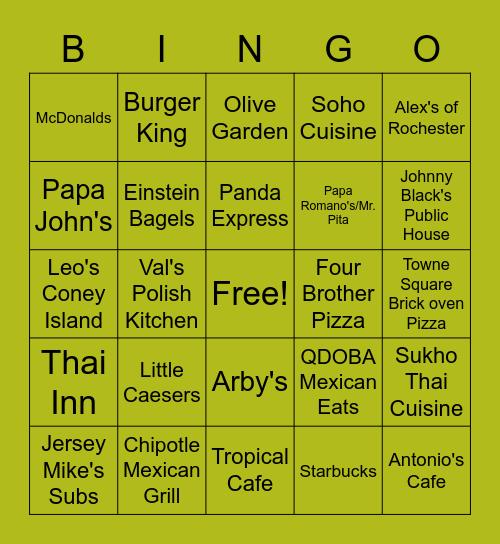ROCHESTER HILLS BINGO - DISTRICT 4 Bingo Card