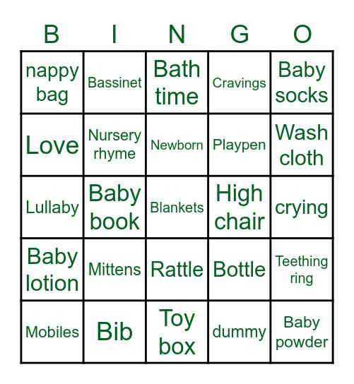 👶🏽🍼🍃BABY SHOWER🍃🍼👶🏽 Bingo Card
