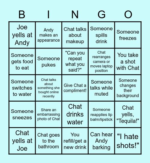 Chat's Bachelorette - Board THREE Bingo Card