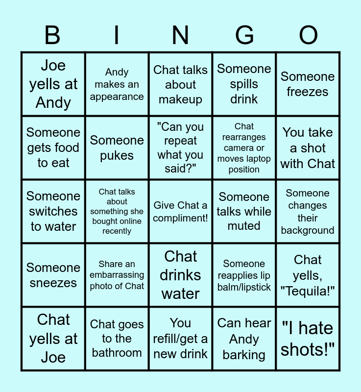 Chat's Bachelorette - Board THREE Bingo Card