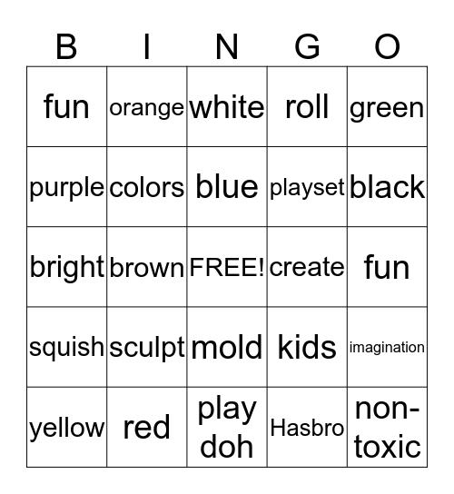 National Play-Doh Day! Bingo Card