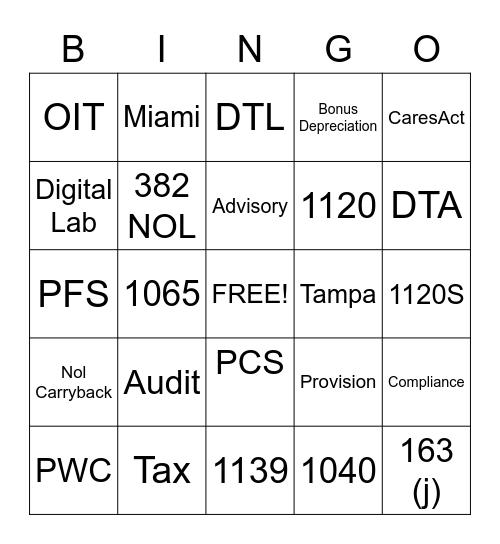 Mid-Week Bingo Card