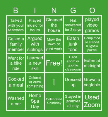 Quarantine LIfe Bingo Card