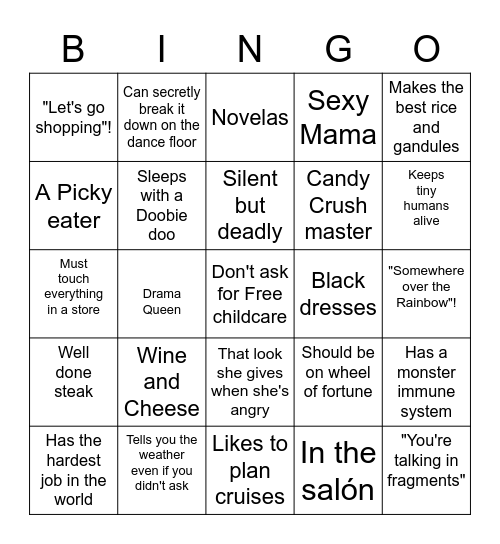Yoly Bingo Card