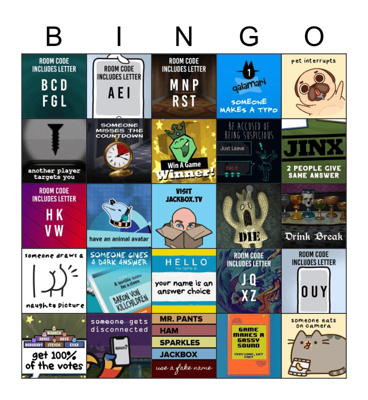 Jackbox Bingo Card