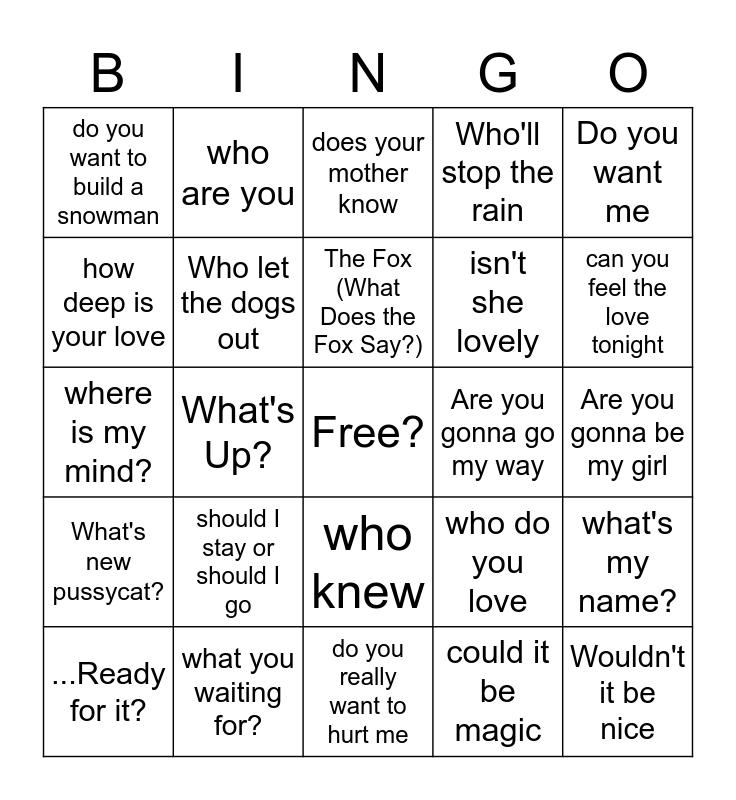 ???? Bingo Card