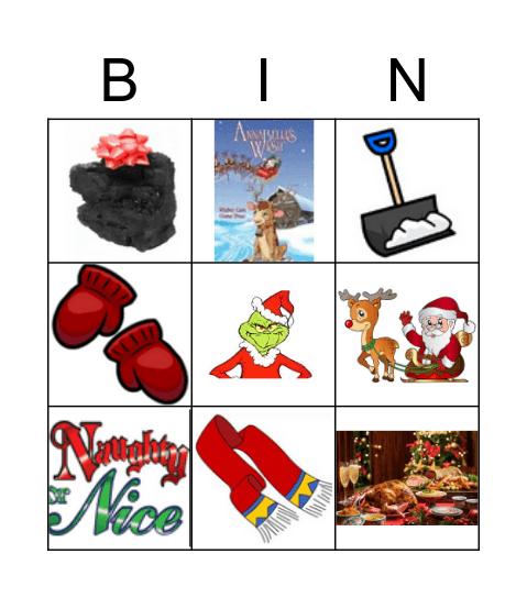 Christmas FAMILY Bingo Game Bingo Card