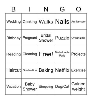 FU COVID Party Bingo Card