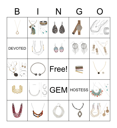 Bling Bingo Card