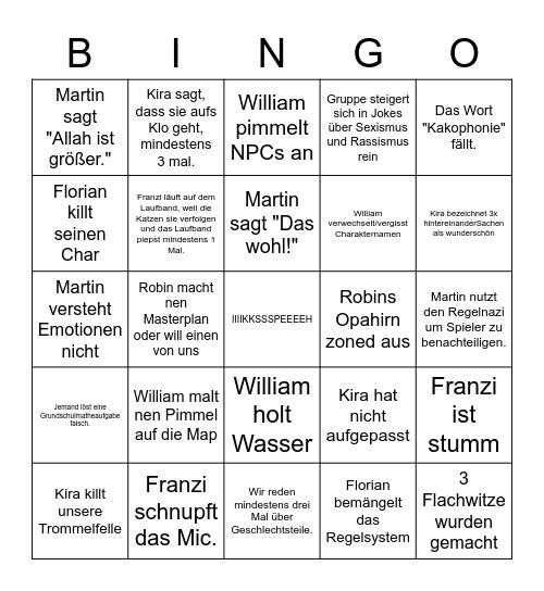 Stiernackenrodeo Bingo Card
