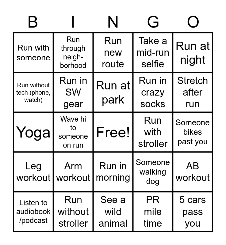 SW Fort Hood Bingo Card