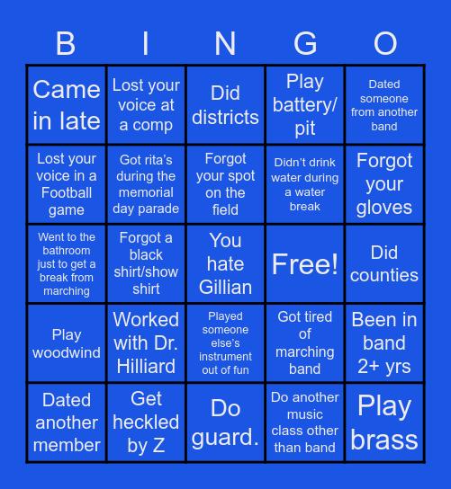 BHS MARCHING Bingo Card