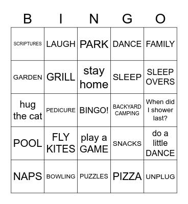 COVID 19 Bingo Card