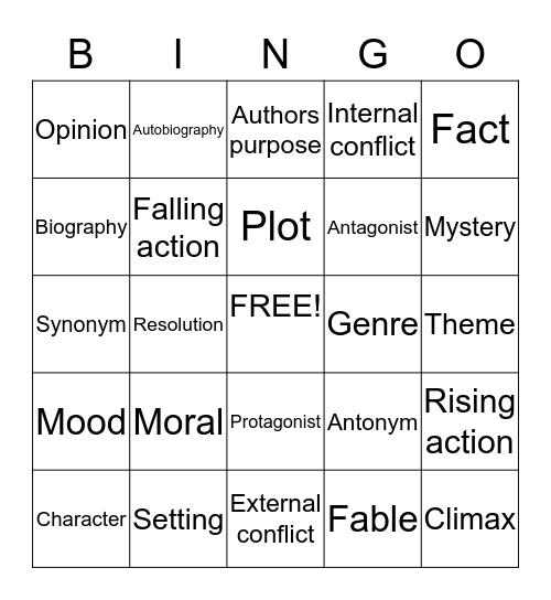 SWAG Bingo Card