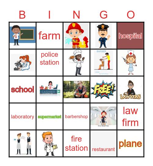 Community Helpers Bingo Card