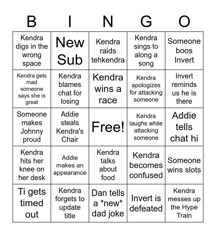 Banana Bunch Bingo Card