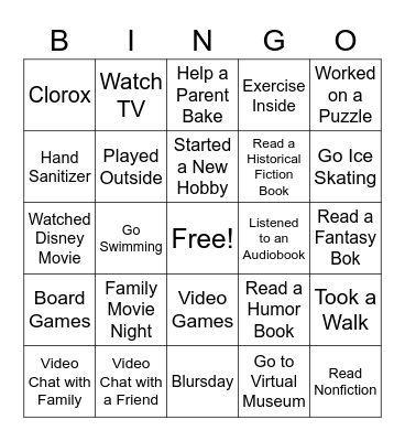 Kids Bingo! Bingo Card