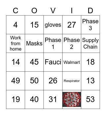 COVID Bingo Card