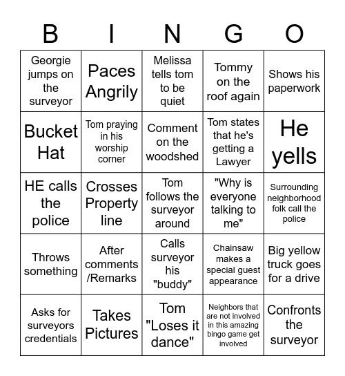 Doomsday Bingo Card