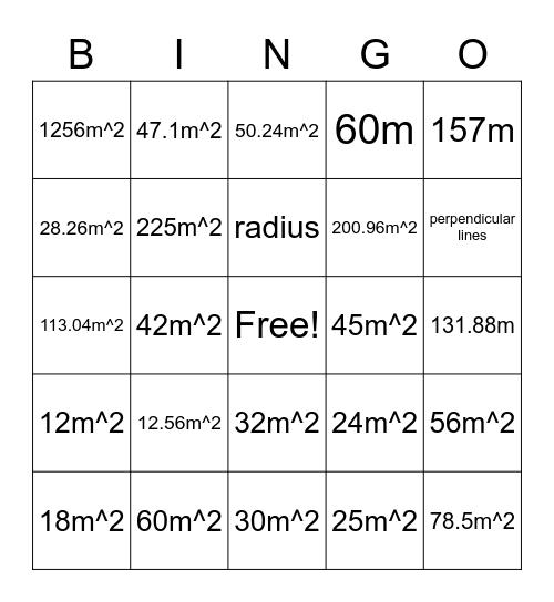 Gr. 7 Geometry Bingo Card