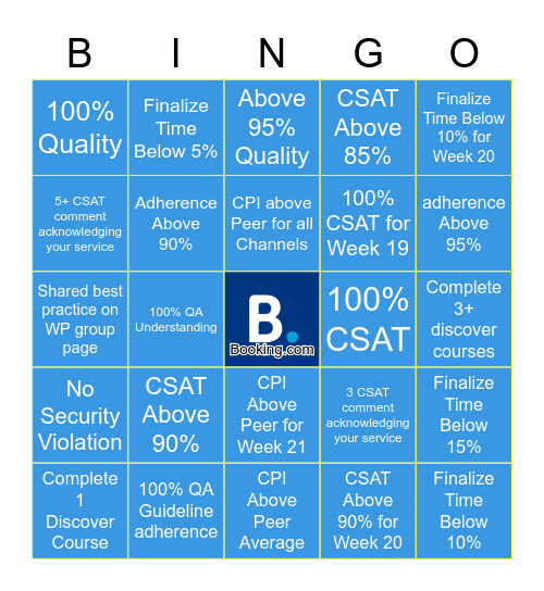 The 6 (May) Bingo Card