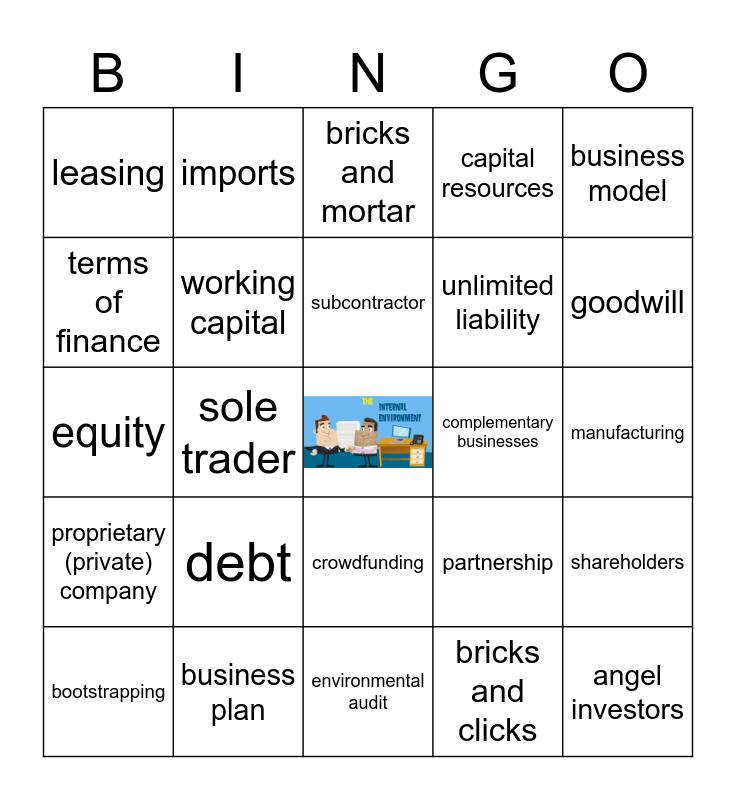 AoS3 - The internal environment Bingo Card