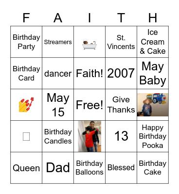 Happy Birthday Isabella Bingo Card