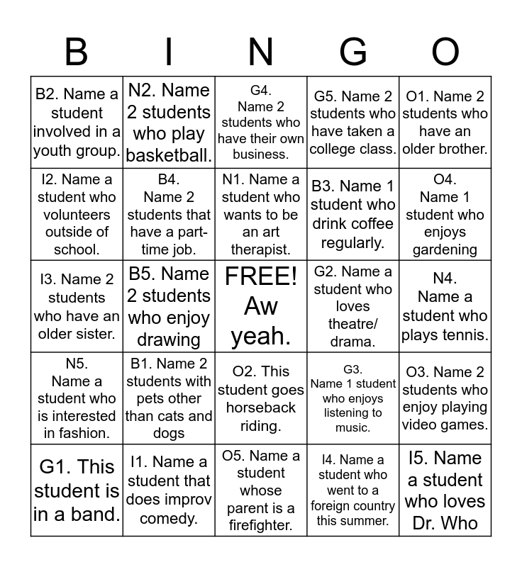 Full Board Arlington Bingo! Bingo Card