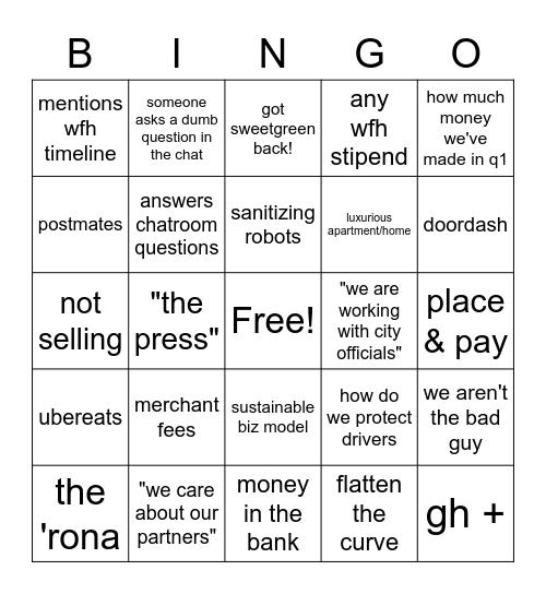 mm bingo Card