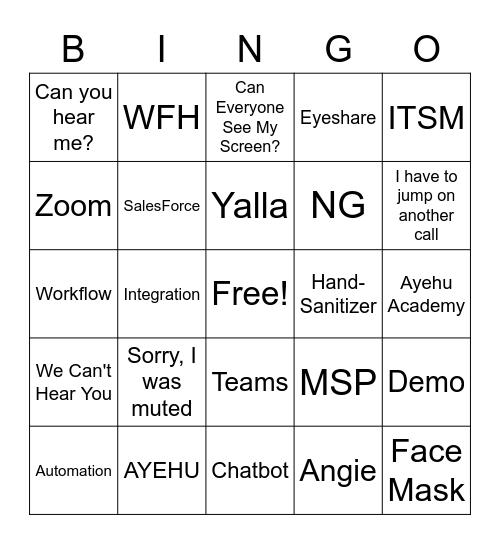 Ayehu Bingo Card