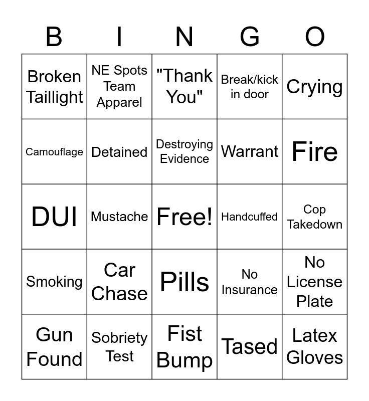 ~ ~ ~ Live PD - Bingo!!! ~ ~ ~ Bingo Card