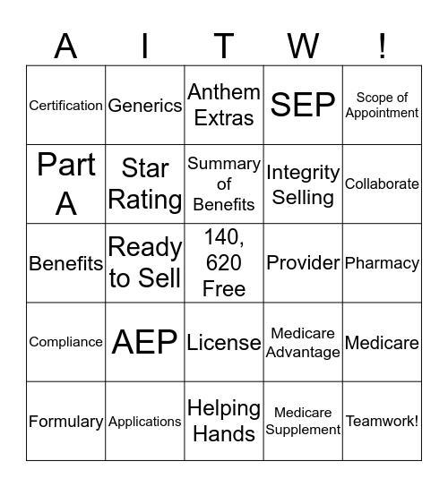All in to WIN Bingo! Bingo Card
