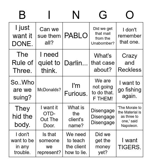 BINGO with GG Bingo Card