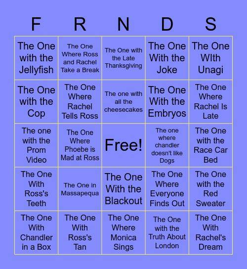 F.R.I.E.N.D.S. Bingo Card