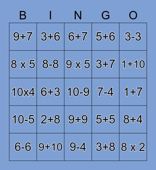 MondayMath Bingo! Bingo Card