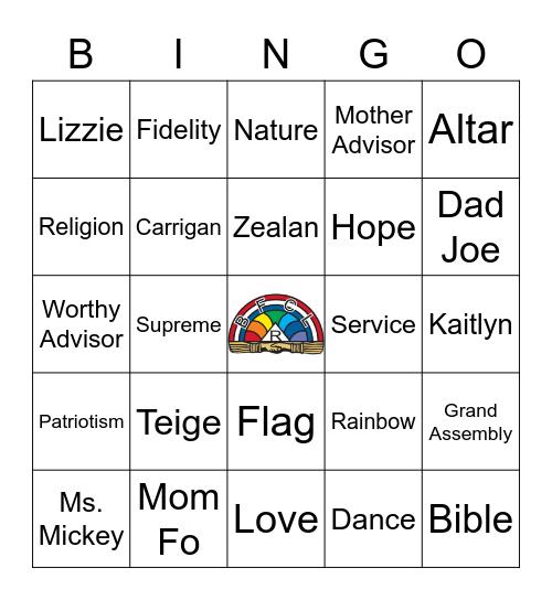 Rainbow Bingo Card