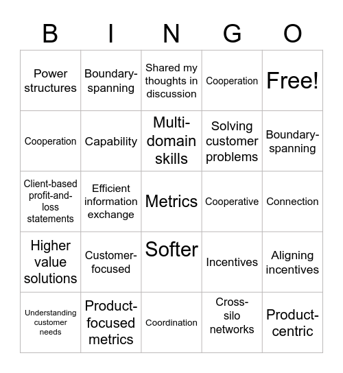 Reading Salon Bingo Card