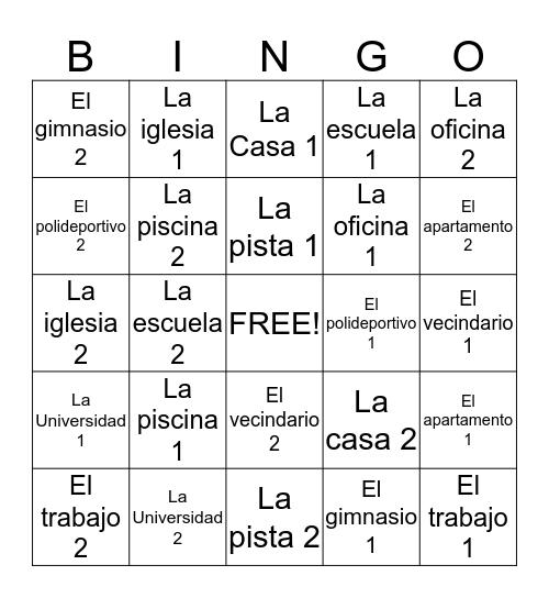 Daily Life & Exercise Bingo Card