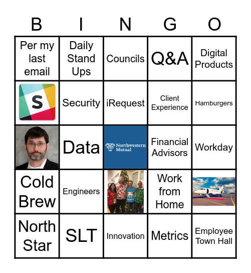 Northwestern Mutal Bingo Card