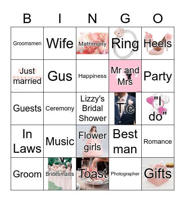 Lizzy's Bridal Bingo Card