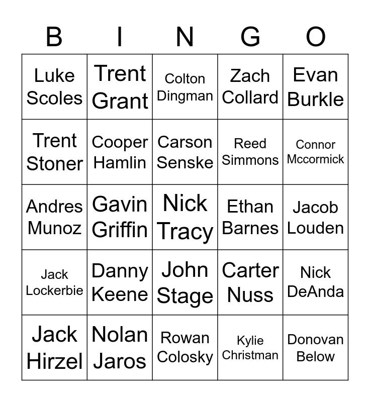 Jacob Louden Bingo Card