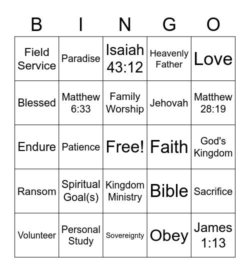 JW Game Night 3 [vss] Bingo Card