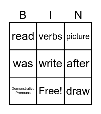 Journeys Lesson 9 Bingo Card