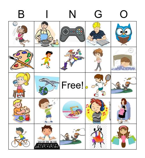 ACTIVITIES Bingo Card