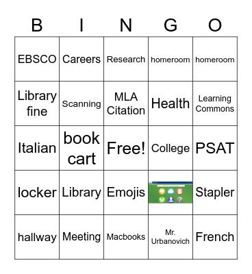 JPS Library Bingo May 2020 Bingo Card