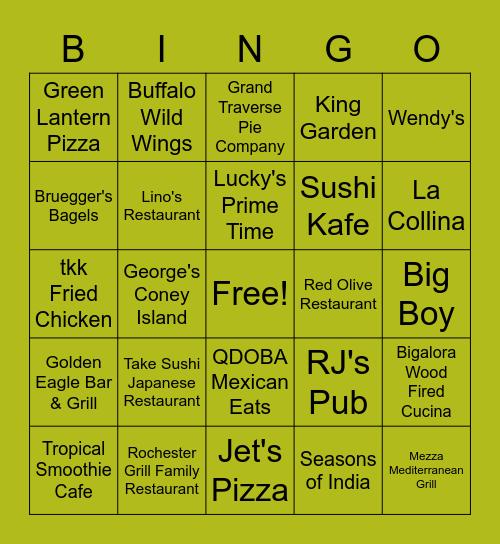 Rochester Hills District 2 Bingo Card